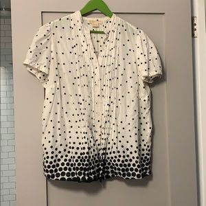 Polka dot cotton blouse